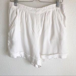ZARA White Linen Shorts